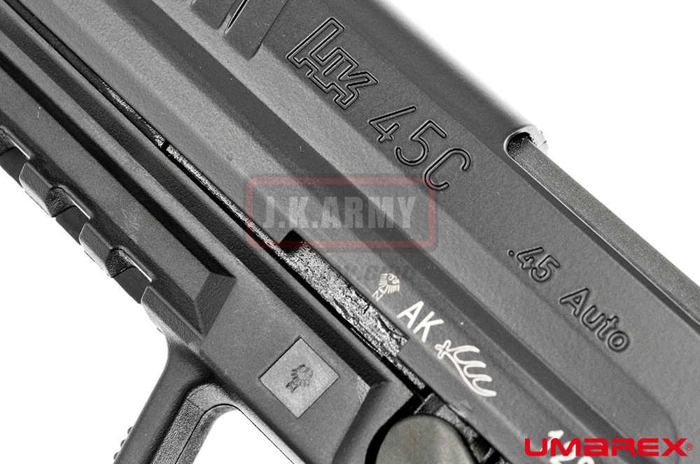 Umarex HK45 Compact Tactical GBB Pistol Airsfot ( VFC Asia Version / Black ) ( HK45CT )