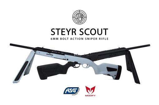 Modify Steyr Scout Airsoft Bolt Action Sniper Rifle