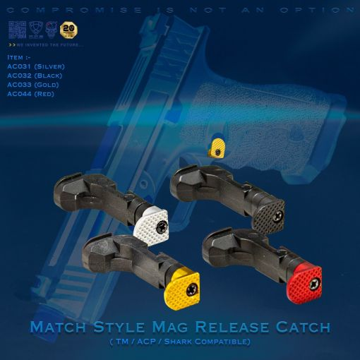 APS D-MOD Match Style Mag Release Catch for TM / ACP / Shark G Model G Series