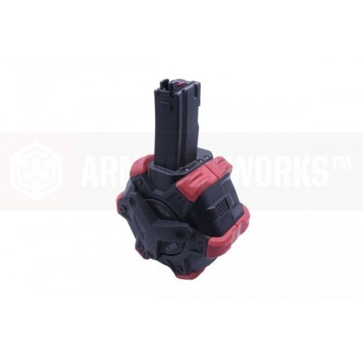 AW Custom™ Adaptive Drum Magazine for AP series GBB ( Red )