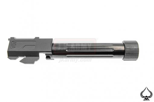 A1A Model 19 Stainless Steel FL Style 14mm CCW Threaded Outer Barrel ( Type Lines )