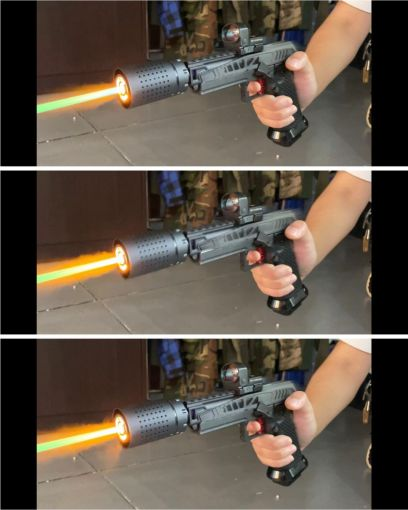 A1A FER Style CRD Tracer unit with Flame Effect ( 14mm CCW ) ( Ace One Arms )