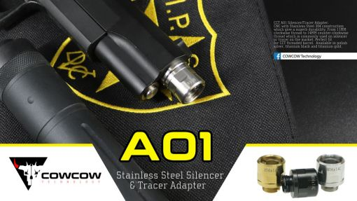 COW A01 Silencer Adapter for Hi-Capa ( 11mm CW to 14mm CCW )