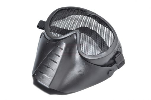 GE04 Airsoft Full Face Steel Mask ( Black )