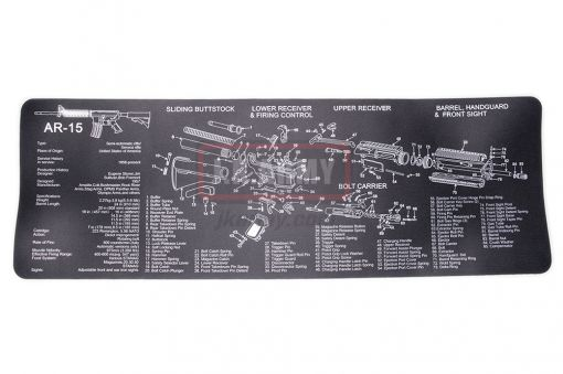 AR15 Exploded View Cleaning Mat  Mouse pad