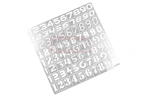Armor Number Text Style Camouflage Paint Cover ( Free Shipping )