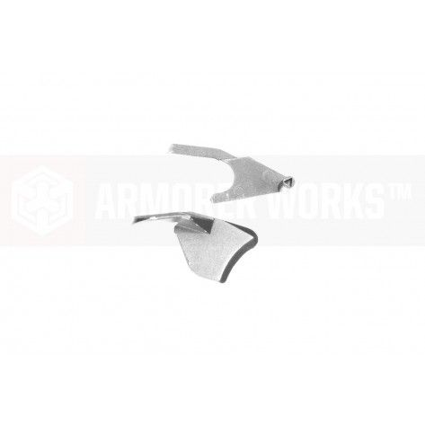 Armorer Works HX 5.1 Thumb Safety ( Left & Right ) for TM/WE/AW Hi-Capas ( Silver )