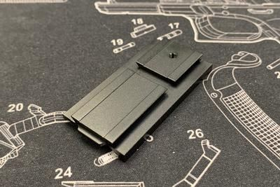 Bomber CNC Aluminum AP-style Adapter Plate for Bomber / VFC Airsoft MOS Slide