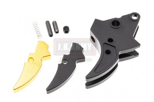 Bomber S-Style (Curved) Adjustable Trigger for Marui Airsoft M&P9 GBB series ( BK )