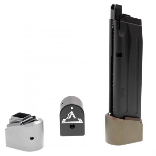 EMG TTI M17 M18 P320 Magazine Extensions Pad for SIG / VFC M17 M18 P320 GBBP Series ( Functional // +Gas +BBs Rds ) ( Licensed by Taran Tactical Innovations )