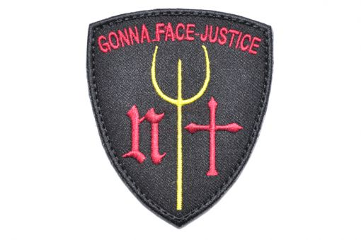 Gonna Face Justice Navy Seals Trident Patch ( BK ) ( Free Shipping )