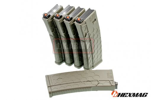 Hexmag Airsoft 120rd Magazine for PTW M4 ( 5 Pcs Pack - OD )