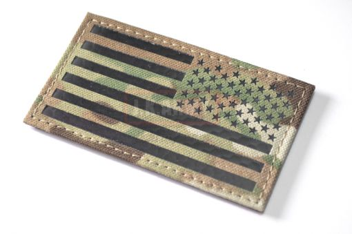 Infrared Reflective Patch - USA Flag ( Reverse ) ( Multicam ) ( Free Shipping )