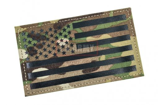 """Infrared Reflective Patch - US Flag Forward 3"""" x 5"""" ( Multicam ) ( Free Shipping )"""