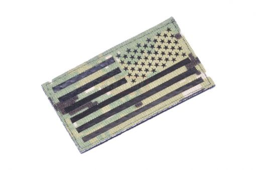 Infrared Reflective Patch - USA Flag ( Reverse ) ( AOR2 ) ( Free Shipping )