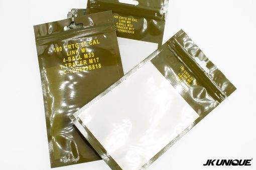 JKUNIQUE .50 CAL AMMO CAN Style Bag 10x18cm ( 1set/10pcs ) ( Patches Packaging Bag ) ( OPP PVC Poly Bag )
