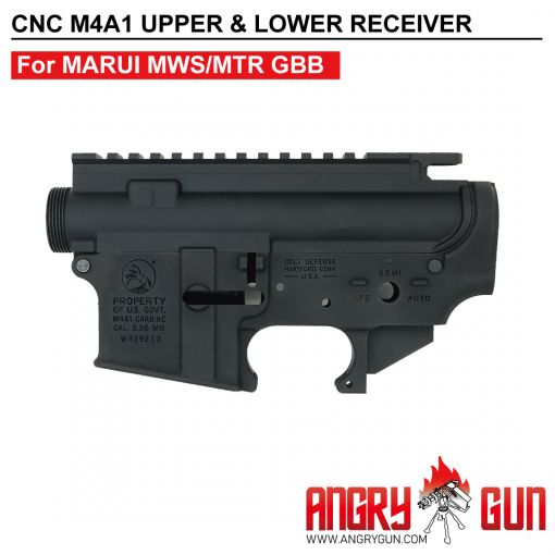 Angry Gun CNC Upper & Lower Receiver for Marui TM MWS / MTR GBB ( COLT M4A1 LATEST VERSION ) ( Colt Licensed w/ Roll Marking Press )