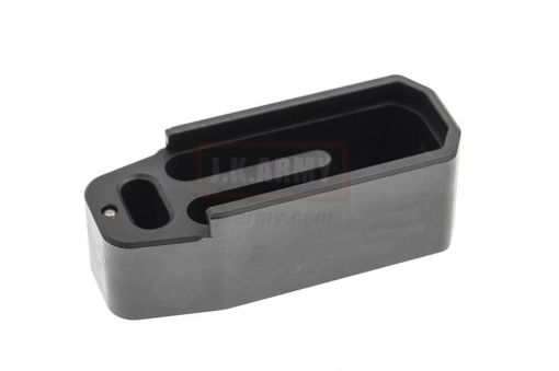 CNC Aluminum Mock - Extension for Polymer Magazine M3 w/ T Engravings BC* Style for PTW & GBB ( MWS ) ( Black )