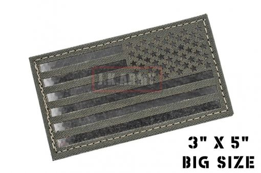 """Infra Red Patch - USA Flag ( Reverse ) ( 3""""x5"""" Big Size ) ( MG ) ( Free Shipping )"""
