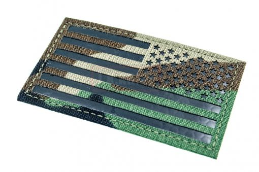 Infra Red Patch - US Flag Reverse ( M81 Woodland ) ( Free Shipping )
