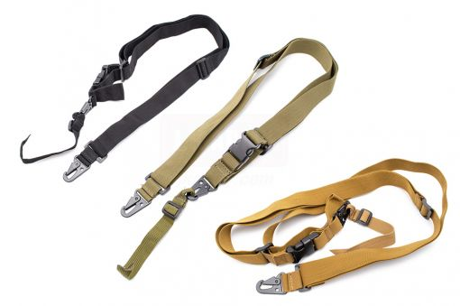 MF 3 Point Sling for AR M16 / MP5 / G3 / AK Series Rifle etc. ( OD / Black / Tan ) ( 3 Point Tactical Sling )