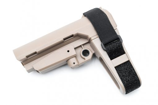 MF P3 Pistol Stabilizing Brace Stock for Airsoft AR / M4 Series ( Tan )