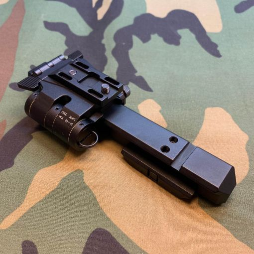 G33 Magnifier Flip Mount and High Risers Mount Rail ( BK ) ( G23 ) ( CAG Style ) ( Free Shipping )