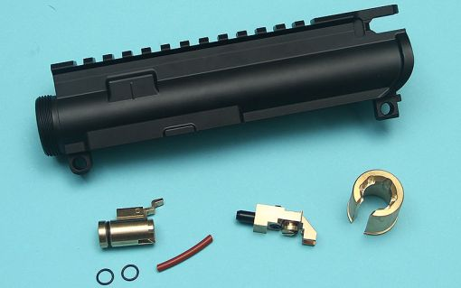 G&P MWS Forged Aluminum M4 Upper Receiver with Hop Up Chamber ( Cerakote Black Finish ) ( TM MWS )