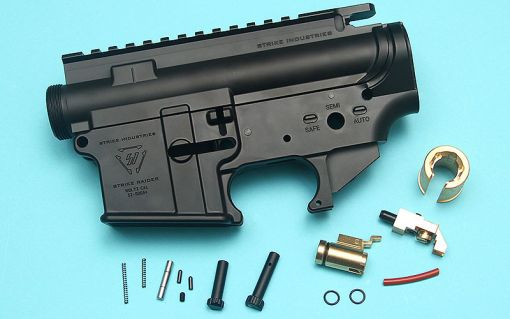 G&P MWS Forged Aluminum SI M4 Receiver Set with Hop Up Chamber ( Licensed by Strike Industries ) ( Cerakote Black Finish ) ( TM MWS )