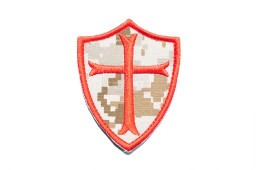 Navy Seals Crusader Cross Patch ( AOR1 x RED ) ( Free Shipping )