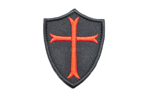 Navy Seals Crusader Cross Patch ( RED X BK ) ( Free Shipping )