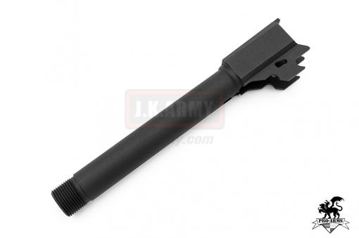 Pro-Arms 14mm CCW Threaded Barrel for For VFC/KA SIG M17 ( SIG AIR P320 M17 6mm GBB Pistol ) ( Black )