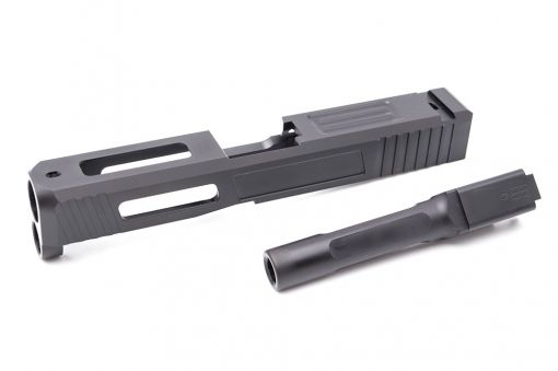 Pro Arms / Old Driver S Style Steel Slide w/ Outer Barrel for UMAREX / VFC Glock 19X / Glock 45 GBBP ( Black ) ( Limited Edition )