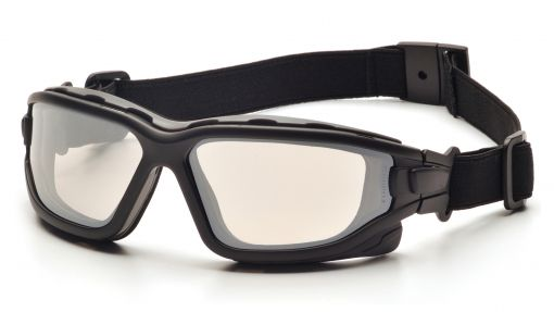 Pyramex I-Force Slim Safety Goggle Indoor/Outdoor Mirror Dual Anti-Fog Lens with Black Temples/Strap ( SB7080SDNT )