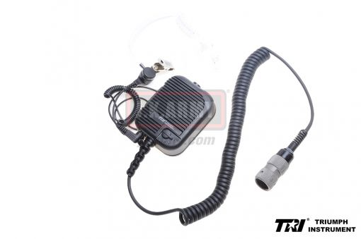 TRI Hand Speaker PTT ( Military Pin Ver. ) with Jack Air Tube Microphone