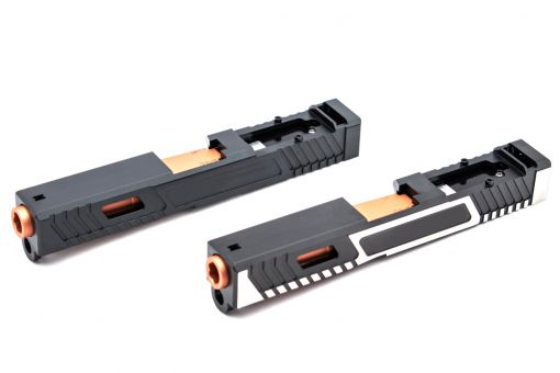 Volante Airsoft T Style G19 RMR Slide Set for Marui TM G Series 19 Model GBBP ( JW Style )