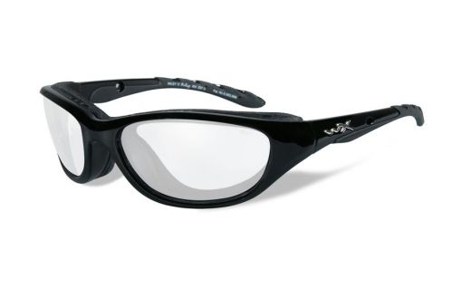 WILEY X Airrage Clear Lens/Gloss Black Frame Shooting Glasses