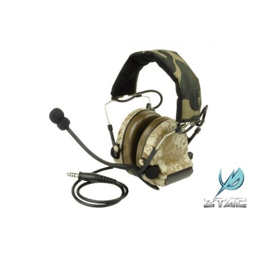 Z-Tactical zCOMTAC II Noise Reduction Headset ( Desert Digital )