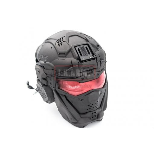 SRU Airsoft Tactical Helmet Set ( Black )