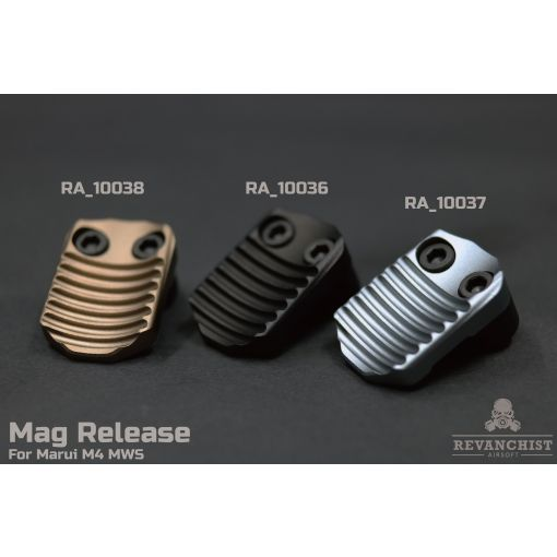 Revanchist Mag Release Type B For Marui M4 / AR MWS ( Black / Tan / Grey )