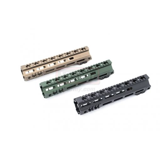 "OMG 10"" G Style MK4 Gen II M-LOK Handguard Rail for Airsoft Only ( Barrel Nut for AEG / MWS / PTW Spec. ) ( FBI / HRT Style ) ( BK / DDC / OD )"