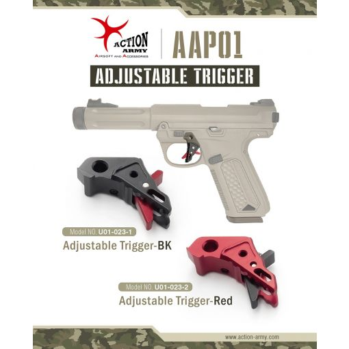 Action Army AAP01 Adjustable Trigger ( Black / Red ) ( AAP-01 )