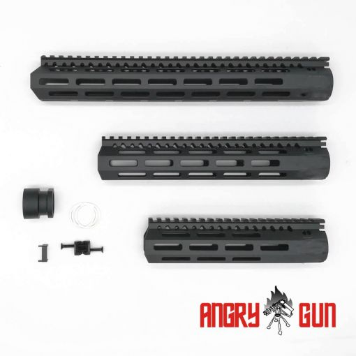 Angry Gun 8 / 10 / 13 Inch MCMR M-LOK RAIL For Airsoft AR M4 Series AEG / GBB / PTW ( Black )