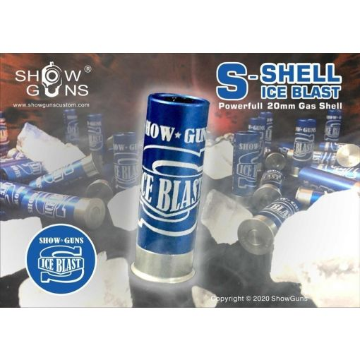 Show Guns S-ICE BLAST 20mm Gas Shotshell for KPS TT33 Shot Launcher / PPS 870 / Tanaka Shotguns ( 3PCS ) ( Blue )