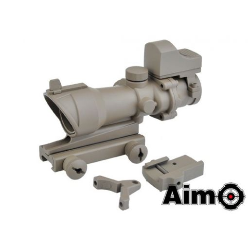 AIM-O ACOG 4x32 Scope with Mini Red Dot ( DE )