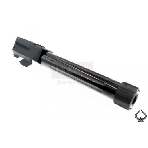 A1A Model 17 Stainless Steel NINE Style 14mm CCW Threaded Outer Barrel ( Type Lines )