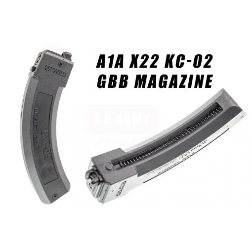A1A X22 10/22 KC02 35 Rds GBB Magazine for KJ KC-02 GBBR ( Black ) ( KC02 Long Mag )