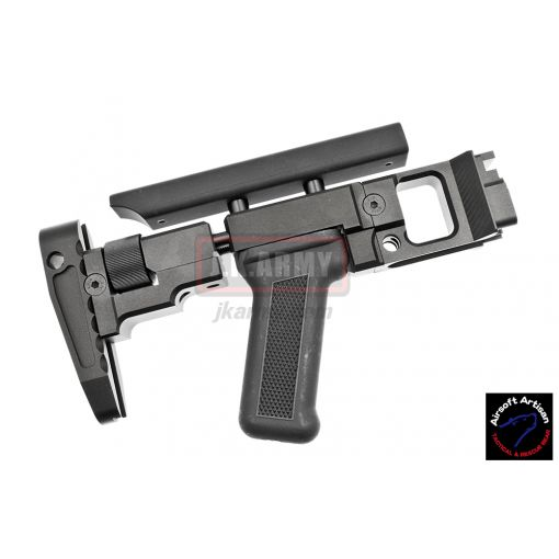 Airsoft Artisan Z-Style PT2 Stock For A&K PKM AEG ( BK )