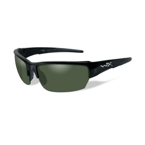 WILEY X SAINT POL Green Lens/Gloss Black Frame Shooting Glasses ( American Sniper Style )