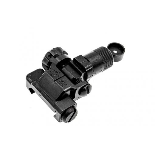 Alpha KAC Licensed Steel 200-600M Folding Micro Rear Sight ( BK )